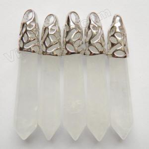 """Natural Gem Rock Crystal Quartz 7.5mm Faceted Heart Shape Briolette Beads 9/"""""""