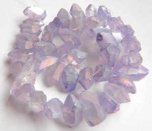 12 strand of faceted purple agate druzy smooth edges 22.00